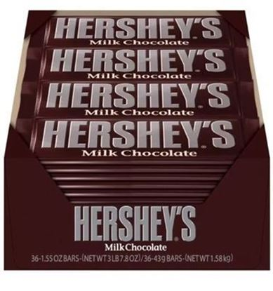 Picture of CANDY- HERSHEY MILK BAR 36CT