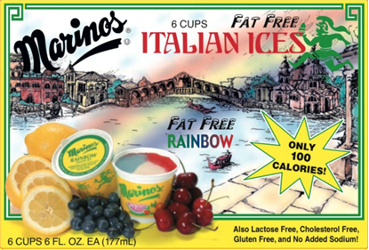Picture of MARINO ICE CUPS - RAINBOW 12ct