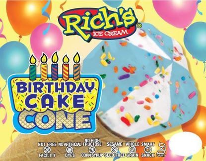 Picture of RICH'S BIRTHDAY CAKE CONE L.F.
